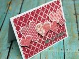 pretty pink heart card
