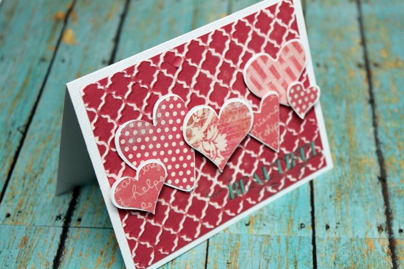 pretty pink heart card