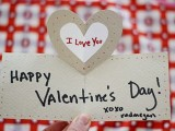 pop-up heart Valentine's card