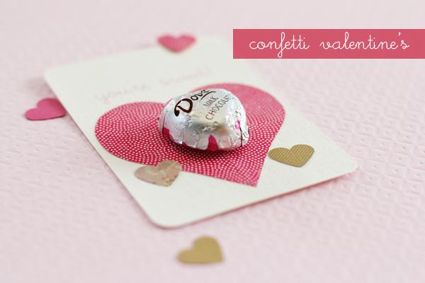 chocolate valentine card