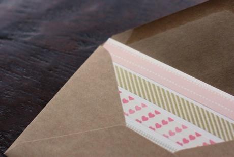 washi tape Valentine card