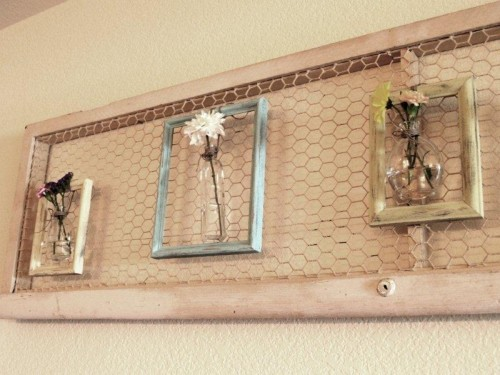 Amazing Diy Wall Art That Doubles As Floral Arrangement