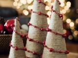 twine bead holiday trees