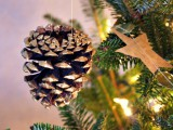 gold pinecone ornaments