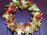 tin fall leaves wreath