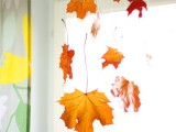 hanging fall leaves decor