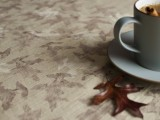 fall leaf patterned tablecloth