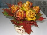pretty roses from maple leaves