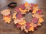 faux leaf fall wreath
