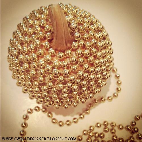 Pieces for home d 233 cor 187 gold bling pumpkins via swelldesigner