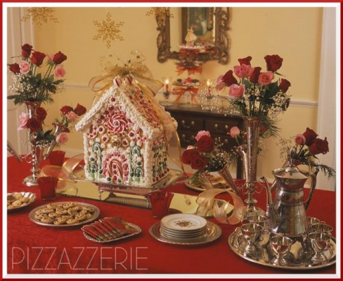 open-end gingerbread house