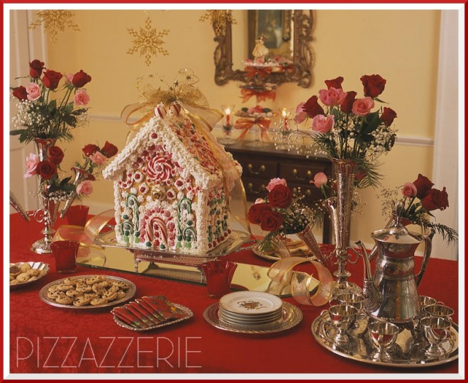 open end gingerbread house
