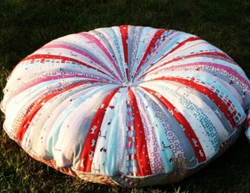 Amazing Jelly Roll Floor Pillows