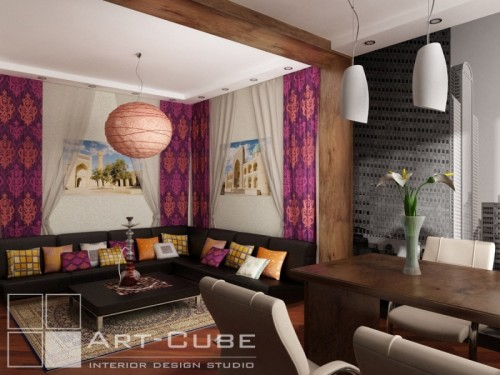 Apartment Design With Decorative Lighting