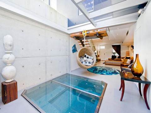 Apartment With A Pool In A Living Room
