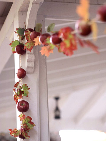 Apple Thanksgiving Garland