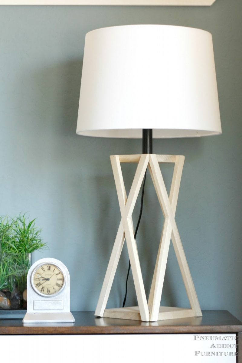 Architectural Wooden DIY Tapered-X Lamp