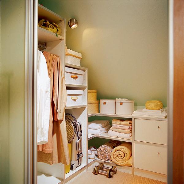 Attic Bedroom With Large Wardrobe