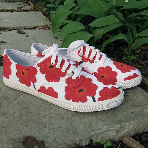 DIY Marimekko Sneakers (via blog)