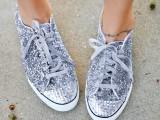 DIY Glitter Converse One Star Sneakers