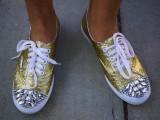 DIY Miu Miu Glitter Sneakers