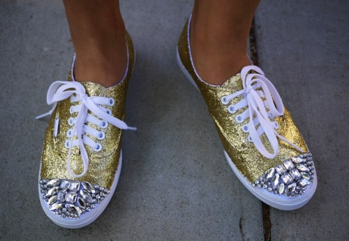 DIY Miu Miu Glitter Sneakers (via honestlywtf)