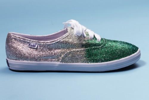 DIY Glitter Keds Sneakers (via teenvogue)