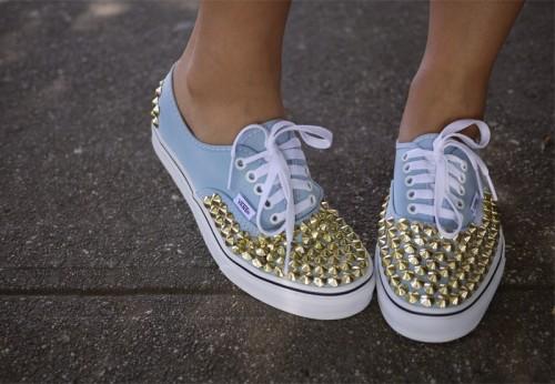 DIY Studded Vance Sneakers (via honestlywtf)