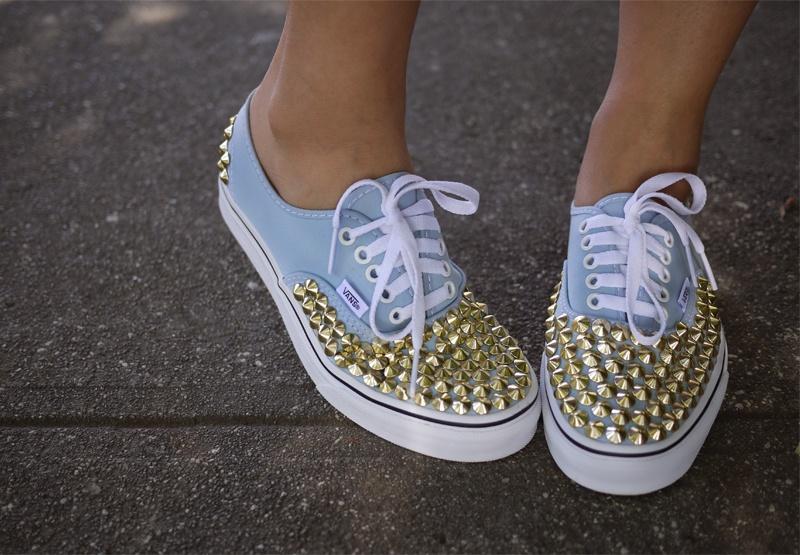 DIY Studded Vance Sneakers
