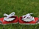 DIY Superhero Winged Sneakers