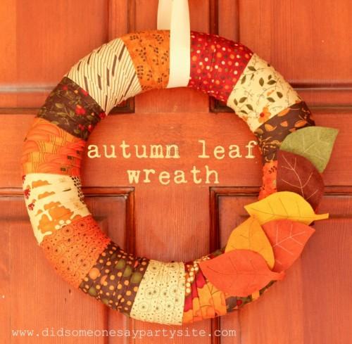 Autumn Leaf Thanksgiving Wreath