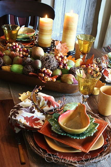 Pin 67 cool fall table decorating ideas photo 13 493x493 - Fall table decorating ideas ...