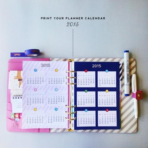 2015 planner calendar (via designisyay)