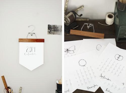 wall calendar (via themerrythought)