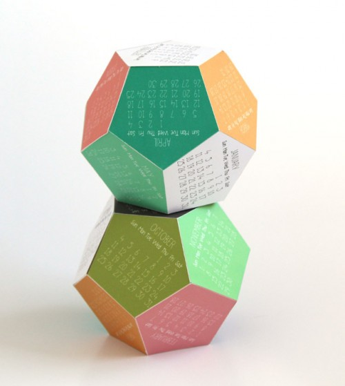 2015 3D calendar (via apieceofrainbow)