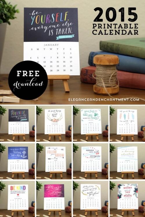 11 Awesome 2015 DIY Calendars To Make