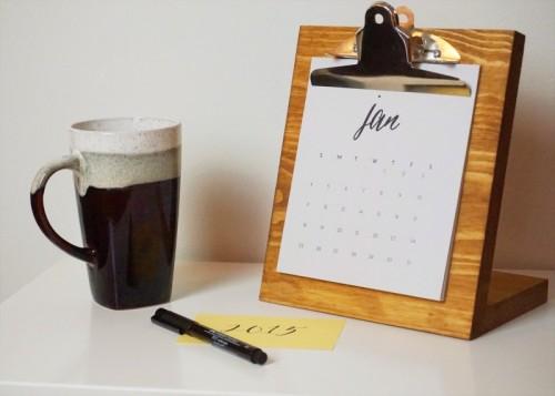 easy 2015 desk calendar (via thediydiary)