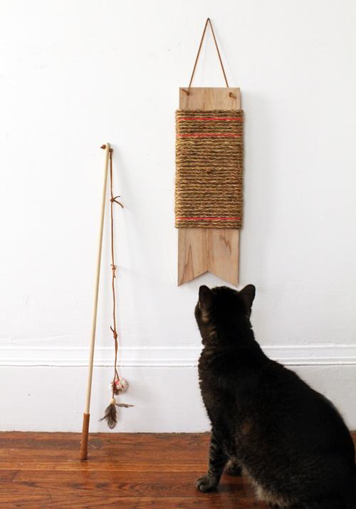 scratch pad cat toy (via designsponge)