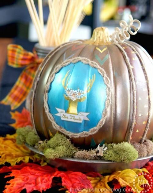 deer pumpkin (via thescrapshoppeblog)