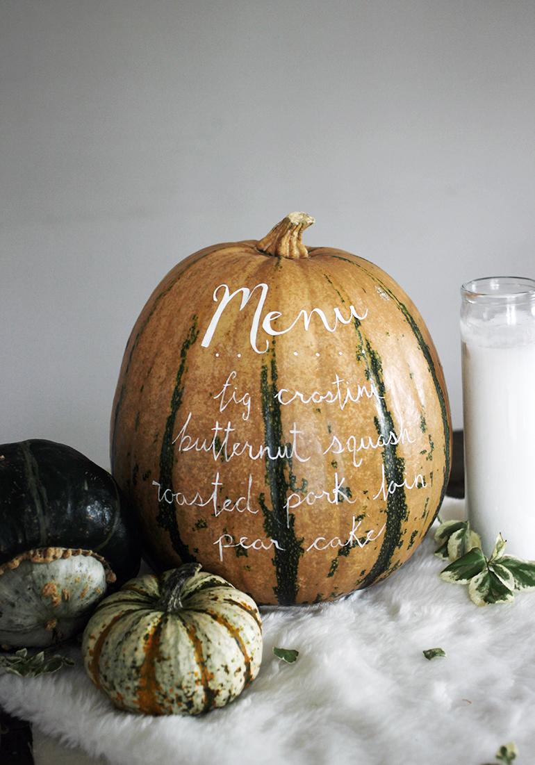 menu pumpkin