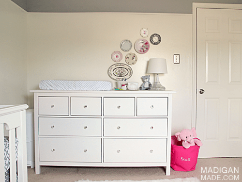 changing table from Hemnes (via madiganmade)