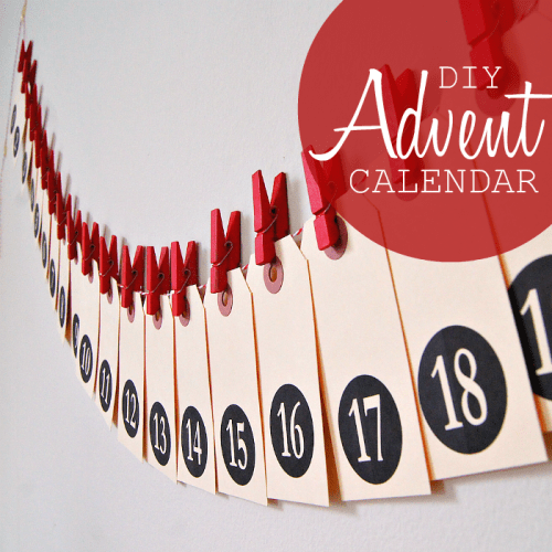 shipping tag advent calendar (via poppytalk)