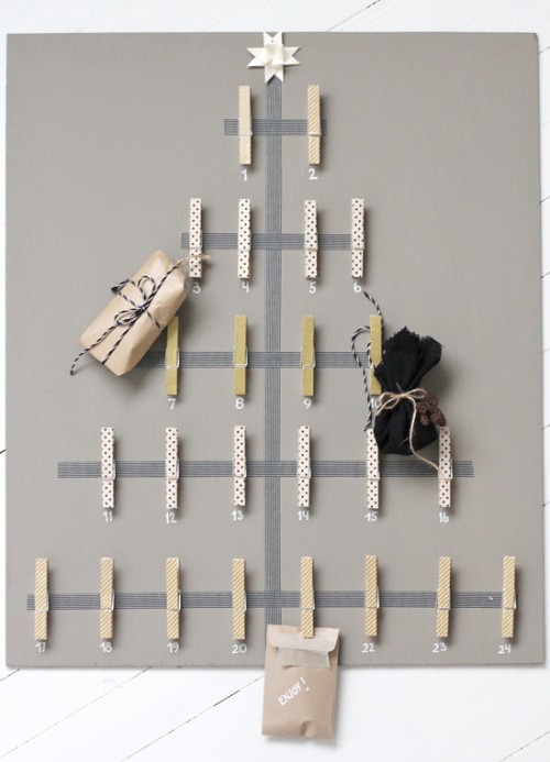 clothes pegs advent calendar (via stylizimoblog)