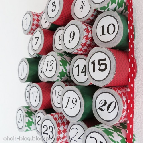 round boxes advent calendar (via ohohblog)