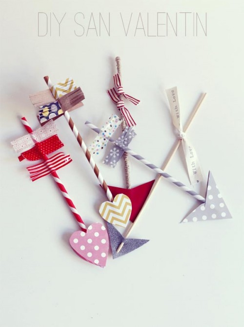 cupid arrows of drink straws (via escarabajosbichosymariposas)