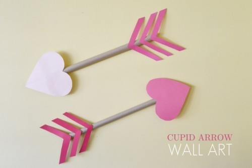 cupid arrow wall art (via sparkandchemistry)