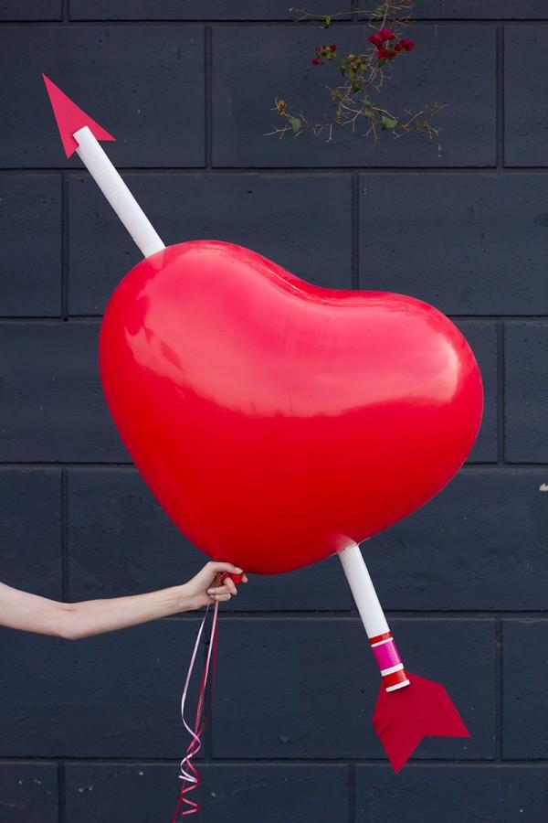 cupid arrow balloons