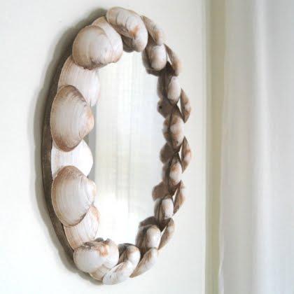 round shells mirror (via completely-coastal)