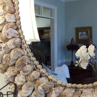 oyster shell mirror (via completely-coastal)