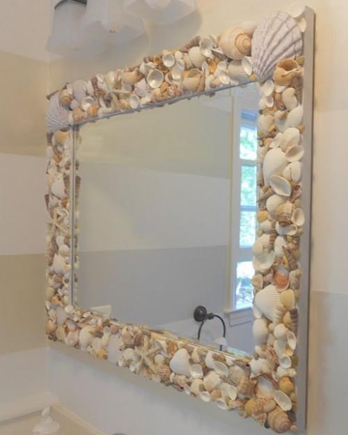 beautiful shells mirror (via homedit)